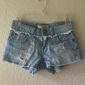 Juniors No Boundaries Distressed Shorts
